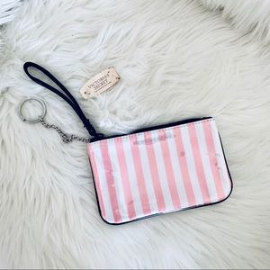 Victoria's Secret striped Wristlet NWT